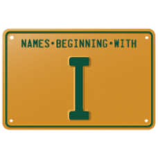 Names beginning with I