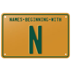 Names beginning with N