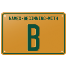 Names beginning with B