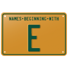 Names beginning with E