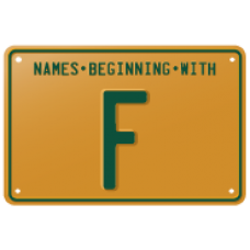 Names beginning with F