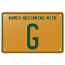 Names beginning with G