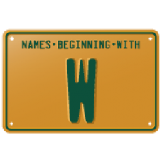 Names beginning with W