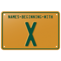 Names beginning with X