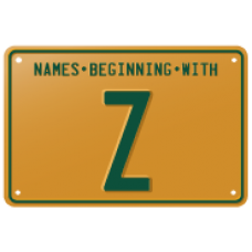 Names beginning with Z